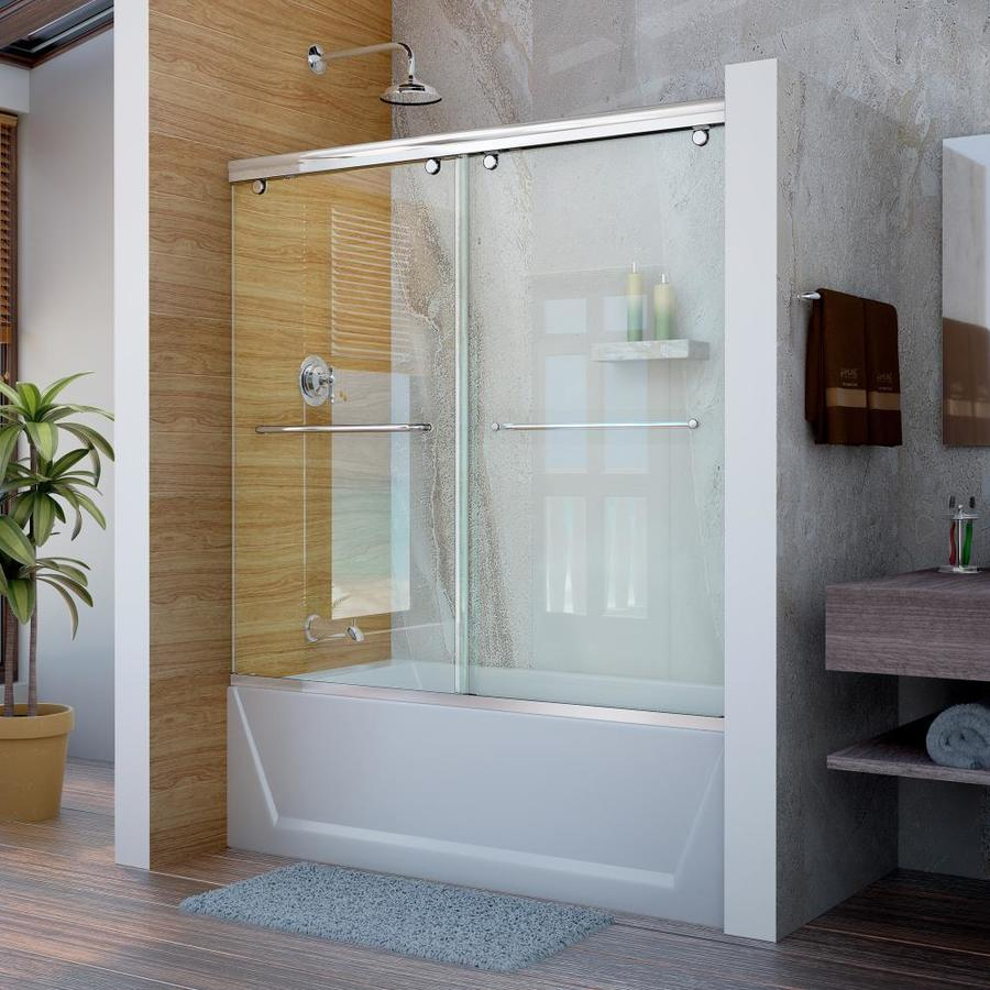 DreamLine Charisma 60-in W x 58-in H Frameless Bathtub
