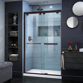 dreamline encore 44in to 48in w frameless oil rubbed bronze sliding shower - Delta Shower Doors