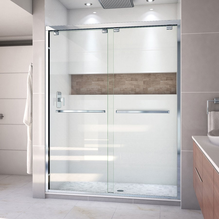 Shop Dreamline Encore 56 In To 60 In W Chrome Bypasssliding Shower