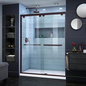 DreamLine Encore 56-in to 60-in Frameless Oil Rubbed Bronze Sliding Shower  Door