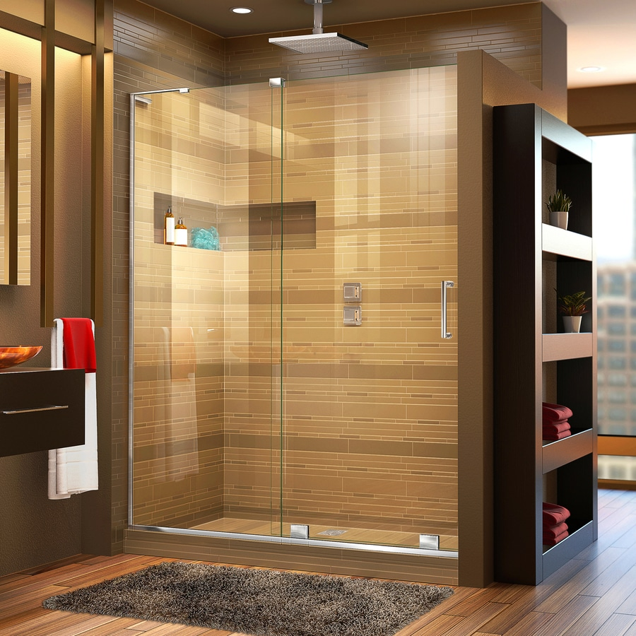 DreamLine Mirage-X 56-in to 60-in Frameless Chrome Sliding Shower Door