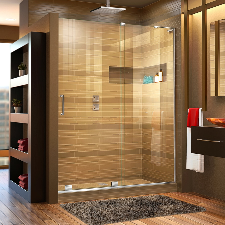 DreamLine Mirage-X 56-in to 60-in W x 72-in H Chrome Sliding Shower Door
