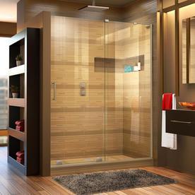 dreamline miragex 56in to 60in frameless brushed nickel sliding shower