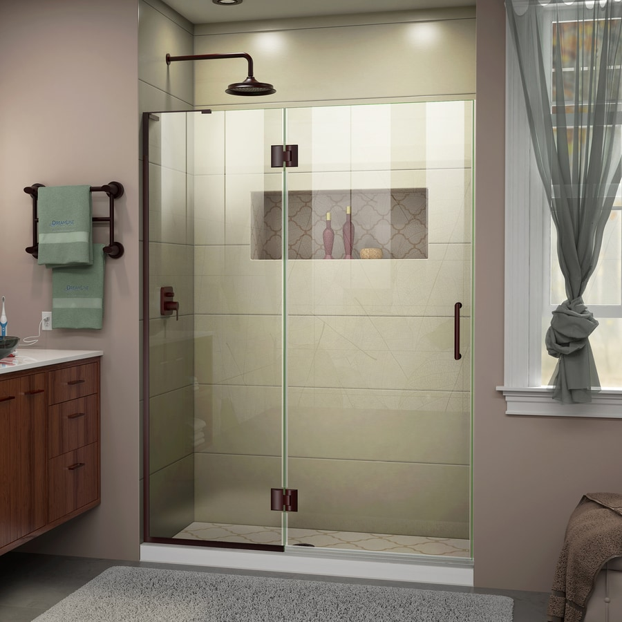 DreamLine Unidoor-X 53-in to 53-in Frameless Hinged Shower Door