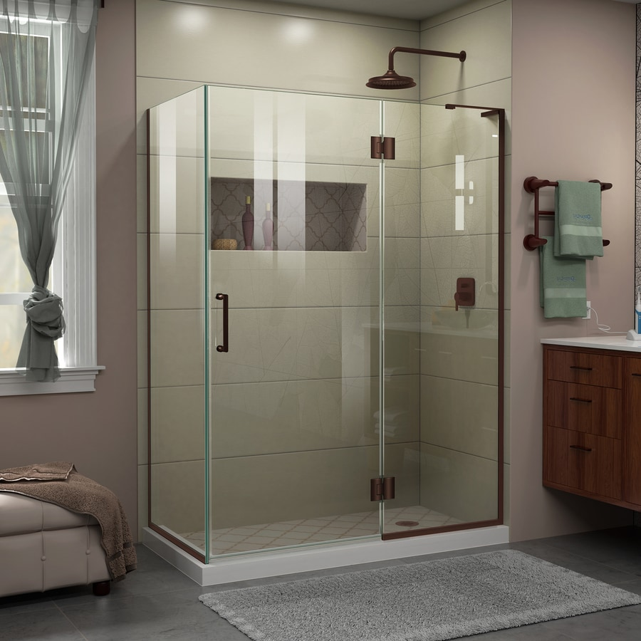 DreamLine Unidoor-X 47.375-in to 47.375-in Frameless Hinged Shower Door