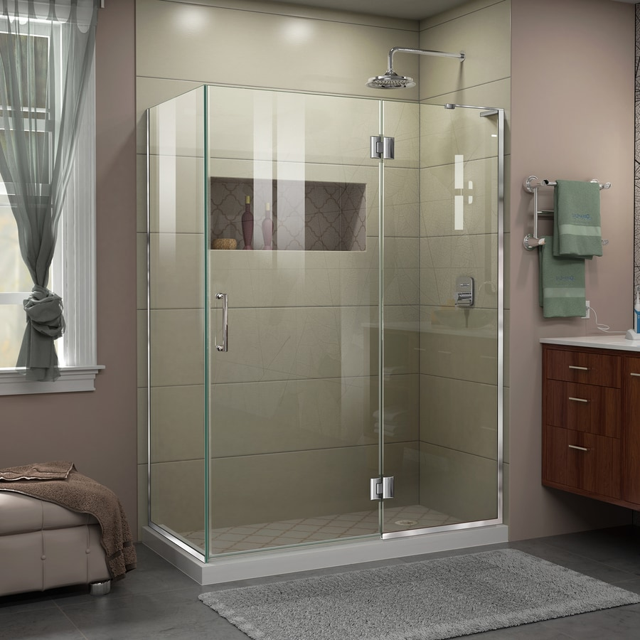 DreamLine Unidoor-X 47.375-in to 47.375-in Frameless Hinged Shower Door