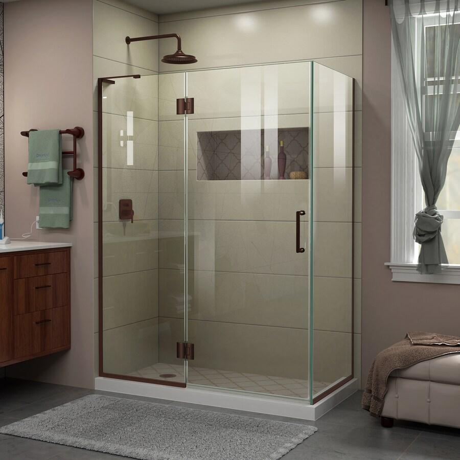 DreamLine Unidoor-X 48.375-in to 48.375-in Frameless Hinged Shower Door