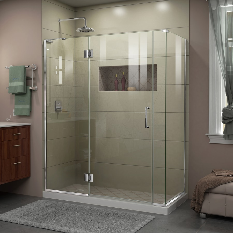 DreamLine Unidoor-X 58.5-in to 58.5-in Frameless Hinged Shower Door