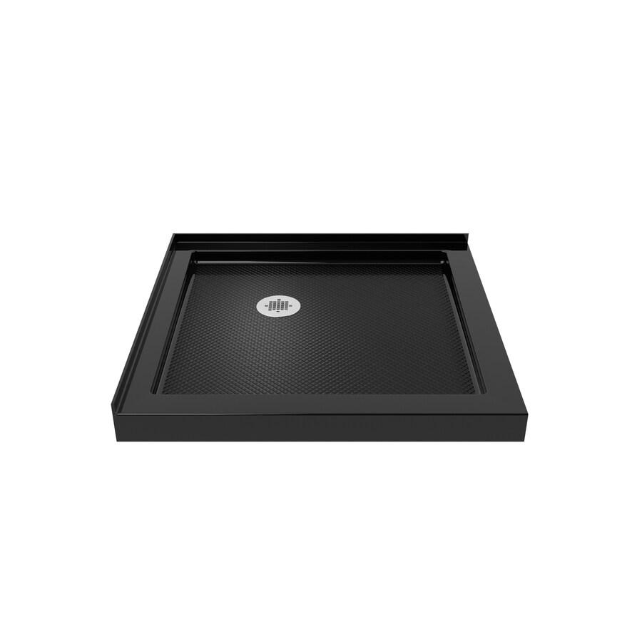 DreamLine Slimline 32-in L x 32-in W Black Acrylic Square Corner Shower Base