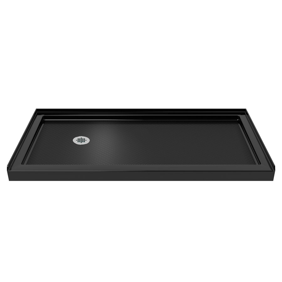 DreamLine SlimLine Black Acrylic Shower Base (Common: 30-in W x 60-in L; Actual: 30-in W x 60-in L) with Left Drain