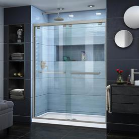 Dreamline Encore 50 In To 54 W Brushed Nickel Byp Sliding Shower