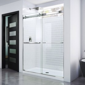 Glass Warehouse Glass Warehouse 78 In H X 56 In To 60 In W Frameless Sliding Polished Chrome Shower Door Clear Glass In The Shower Doors Department At Lowes Com