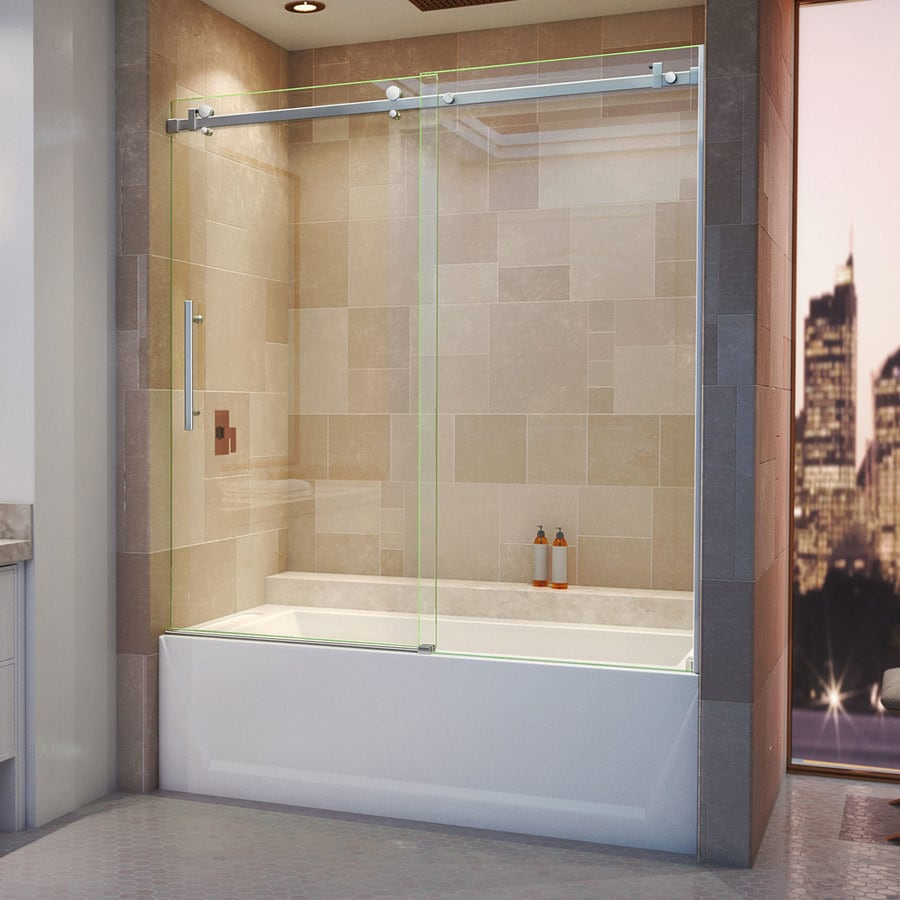 Bathroom shower doors frameless - Dreamline Enigma Air 60 In W X 62 In H Frameless Bathtub Door