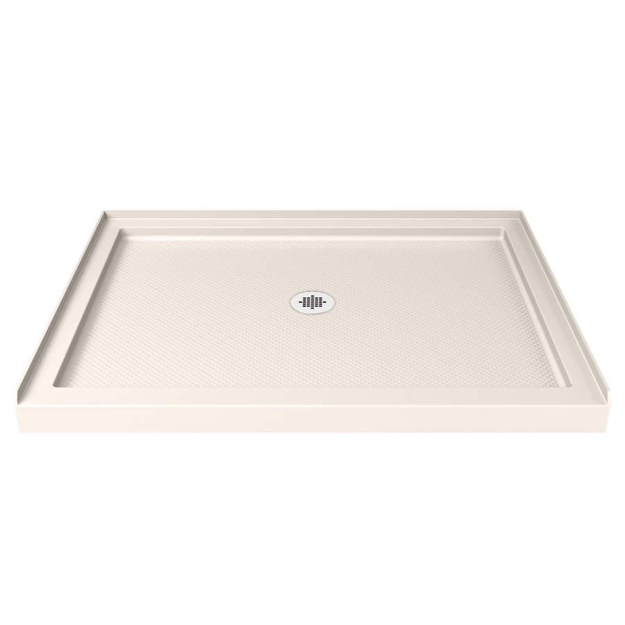 DreamLine SlimLine Biscuit Acrylic Shower Base (Common: 32-in W x 42-in L; Actual: 32-in W x 42-in L) with Center Drain