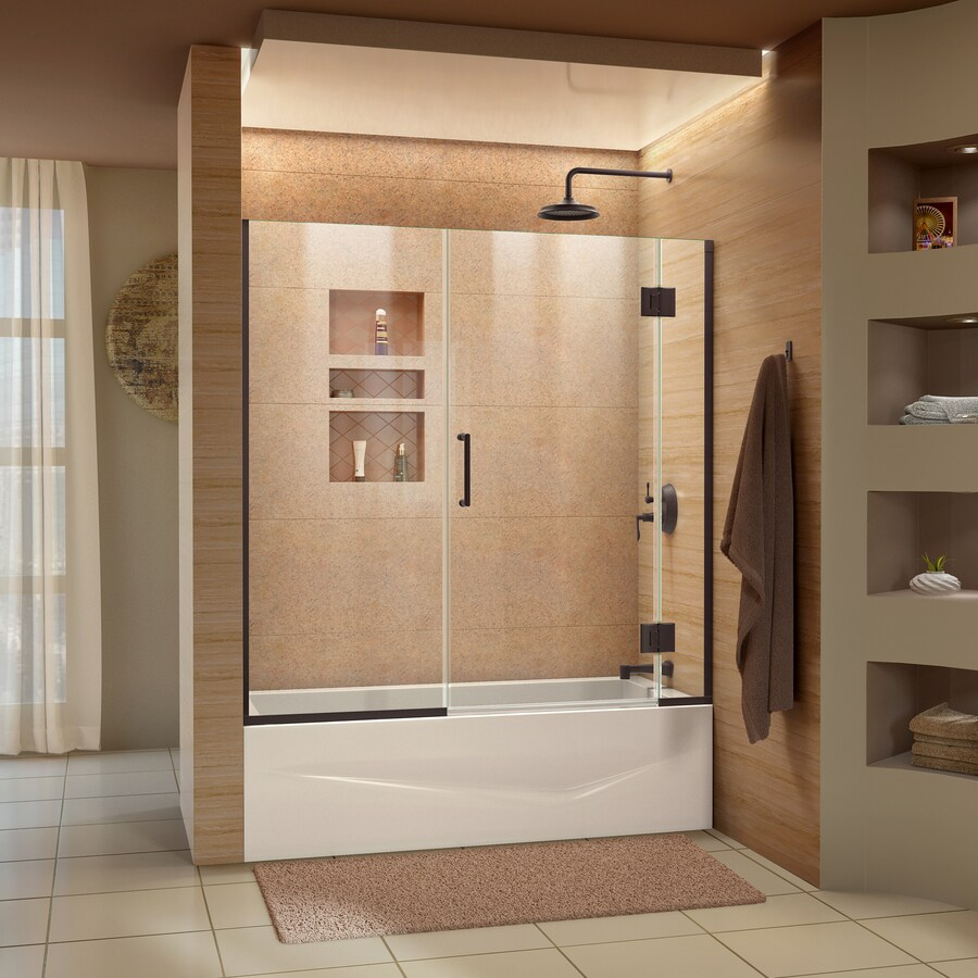 Shop DreamLine Unidoor X 58 In W X 58 In H Frameless Bathtub Door At