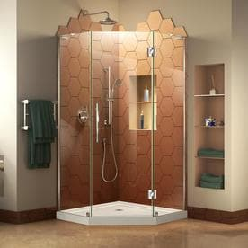 Dreamline Prism Plus Chrome Acrylic Floor Neo Angle 2 Piece Corner Shower Kit