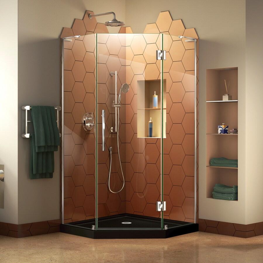 Shop DreamLine Prism Plus Chrome Acrylic Floor Neo-angle 2-Piece ...