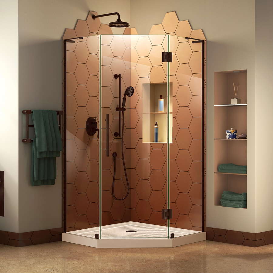 Dreamline Prism Plus Oil Rubbed Bronze Floor Neo Angle 2