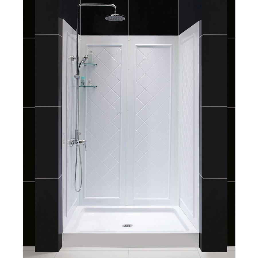 Dreamline Qwall 5 2 Piece Alcove Shower Kit Actual 48 In