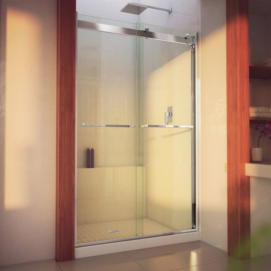 DreamLine Essence-H 44-in to 48-in W Frameless Chrome Sliding Shower Door