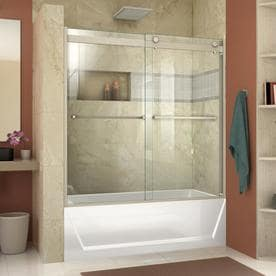 door ny frameless westbury reflections triview tub doors over panel and