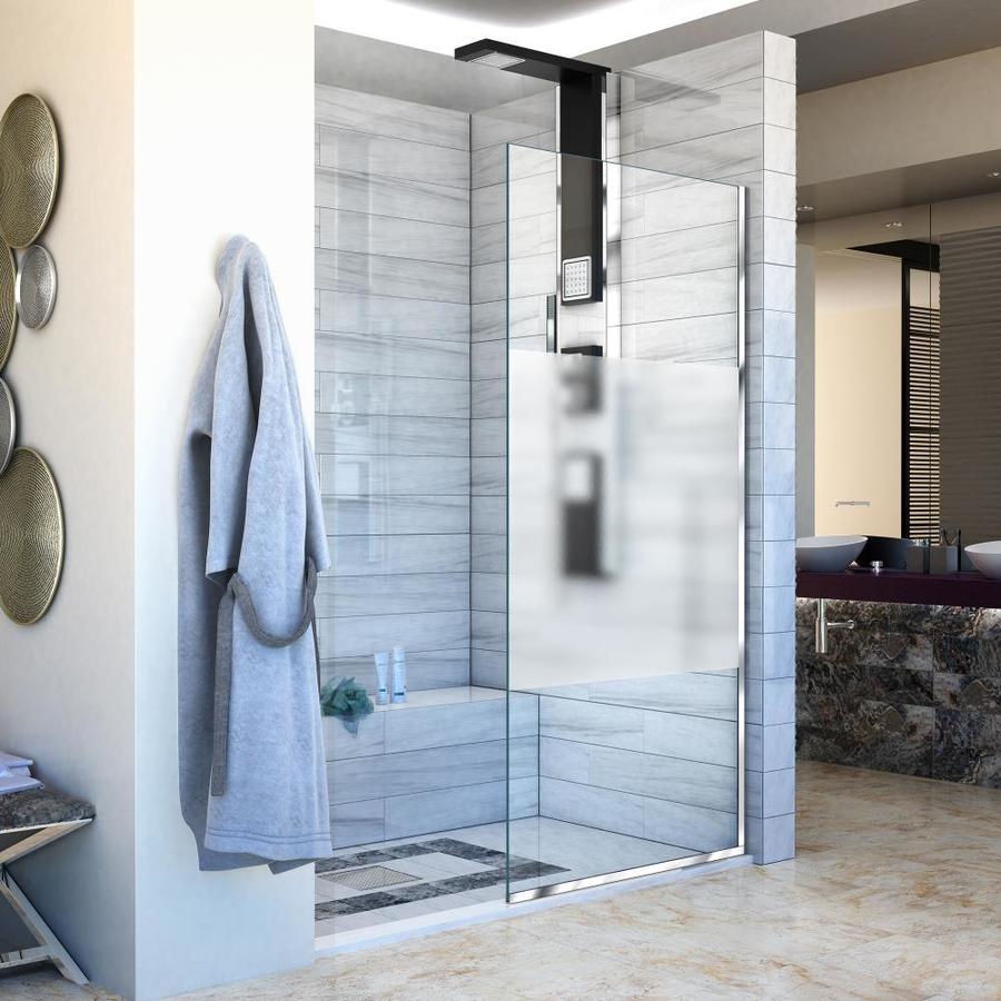 Shop DreamLine Linea 30-in to 30-in W Frameless Chrome Fixed Shower ...