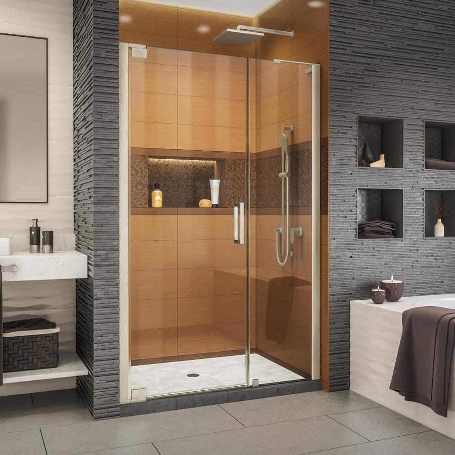 Dreamline Elegance Ls 50 In To 52 W Brushed Nickel Pivot Shower