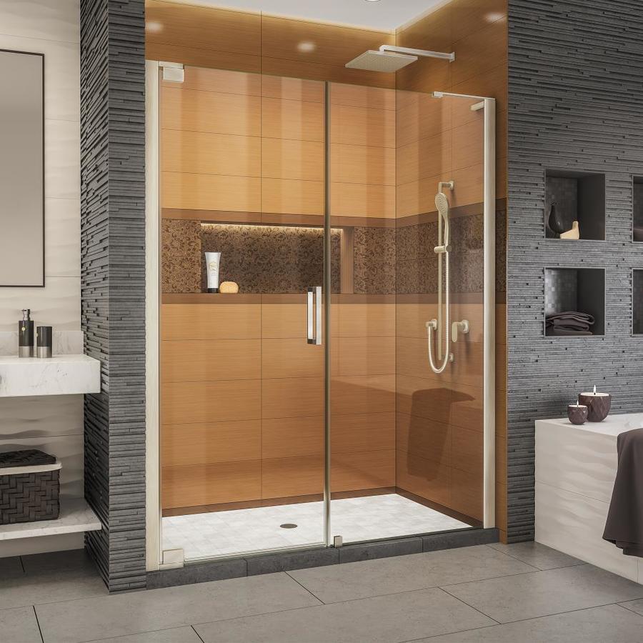 Dreamline Elegance Ls 56 75 In To 58 W Brushed Nickel Pivot Shower