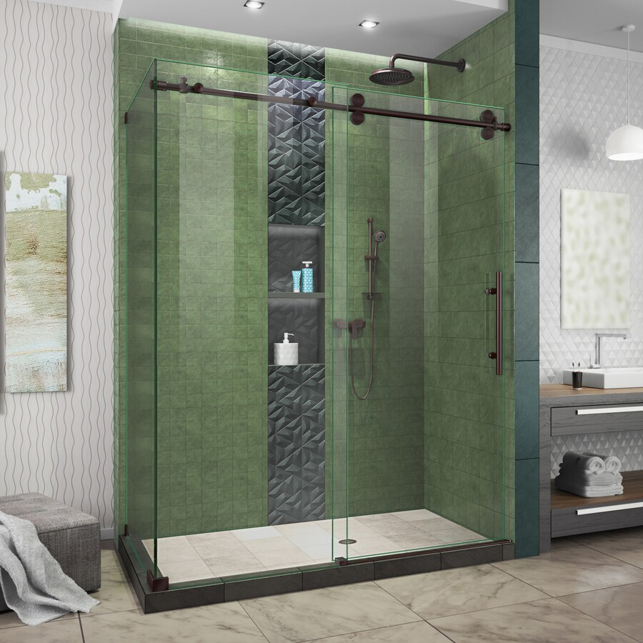 Bathroom Sliding Glass Doors: DreamLine Enigma-XO 56.375-in To 60.375-in W Frameless Oil