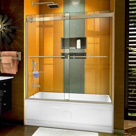 DreamLine Sapphire 56-60 in. W x 60 in. H Semi-Frameless Bypass Tub Door in Brushed Nickel