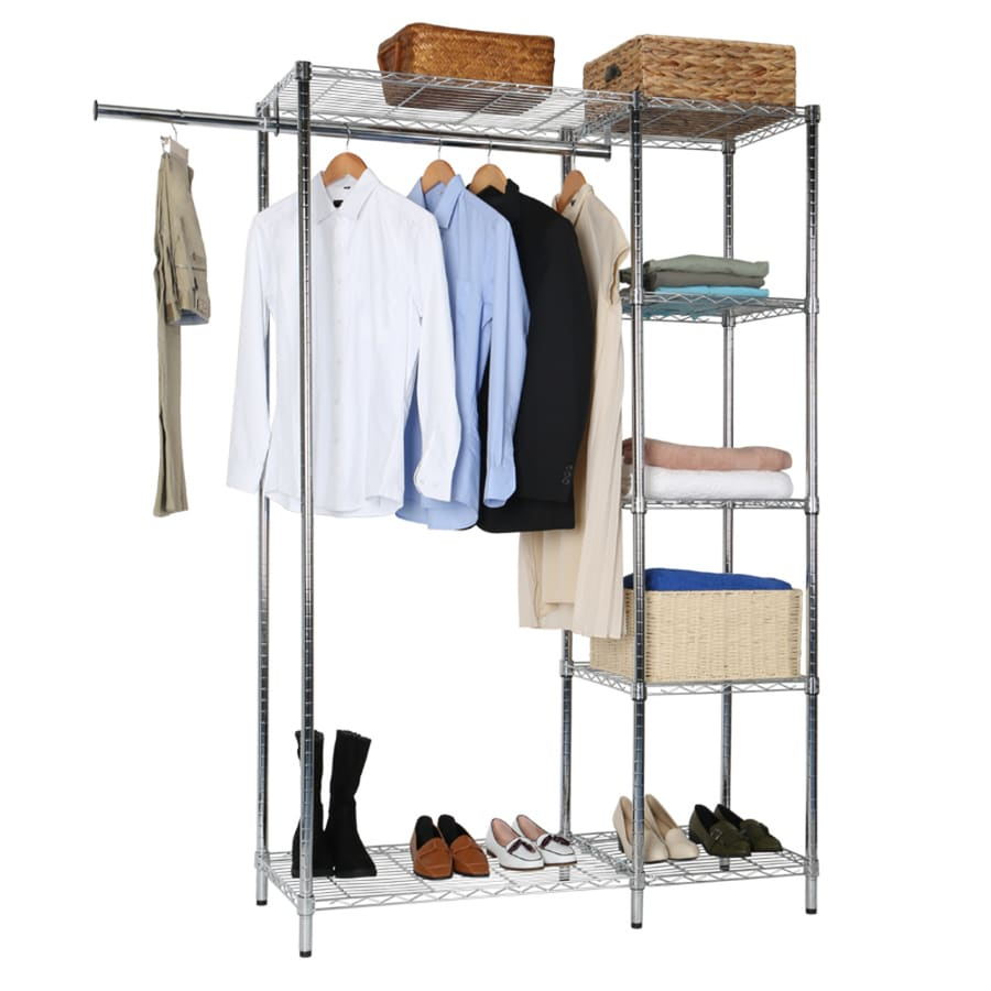 46.5000-in x 18.0000-in x 71.5000-in Freestanding Metal Laundry Organizer