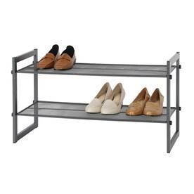 15.99-in x 28.94-in x 11.91-in Freestanding Metal Shoe Rack