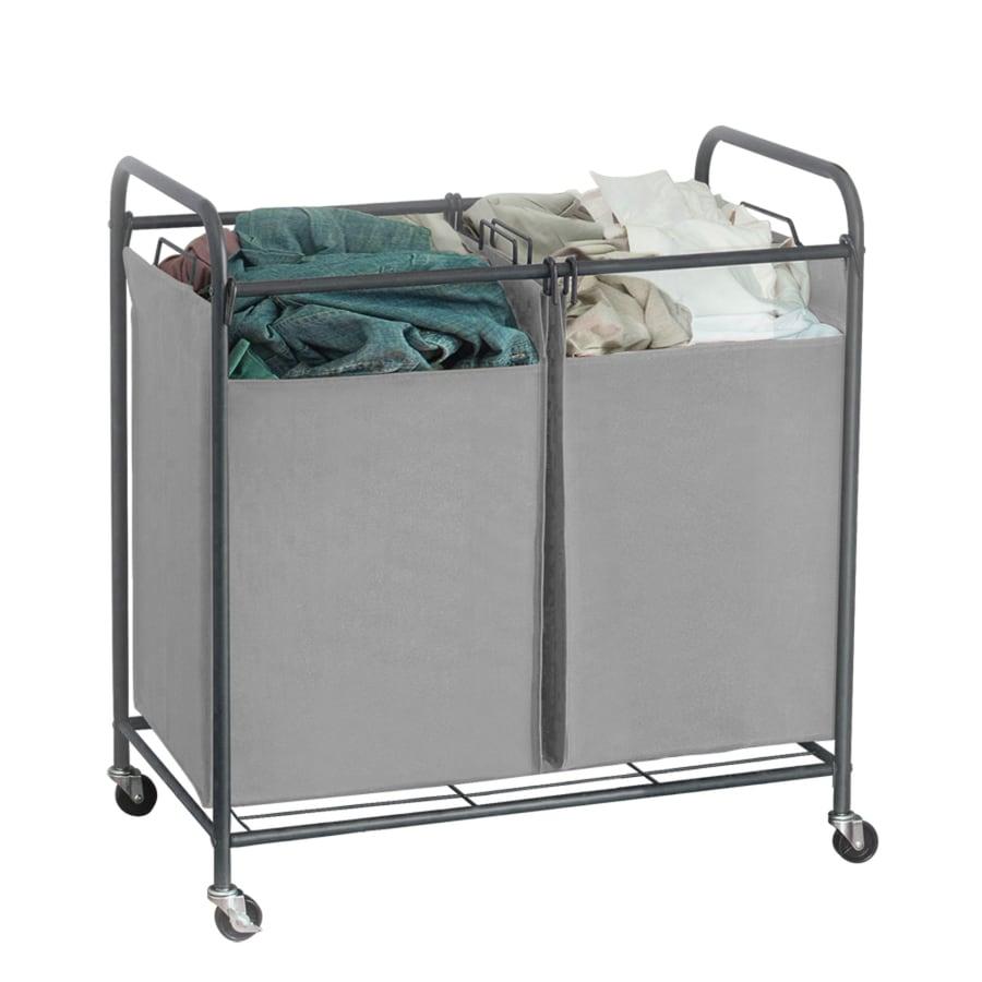 32-in x 31.125-in x 19.75-in Freestanding Metal Laundry Organizer