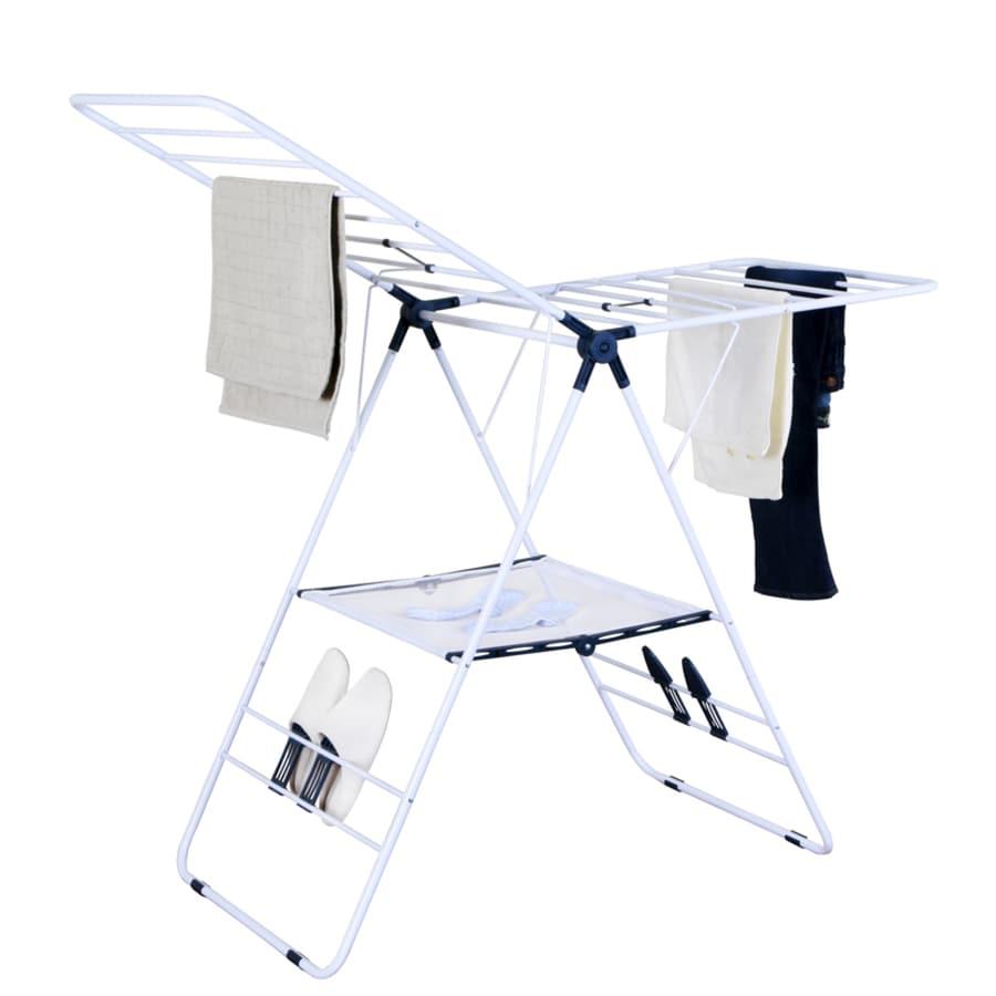 39.3-in x 57-in x 23.62-in Freestanding Metal Laundry Organizer
