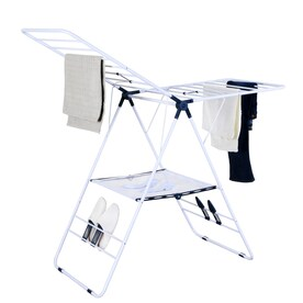 39.3-in x 57-in x 23.62-in Freestanding Metal Laundry Organizer