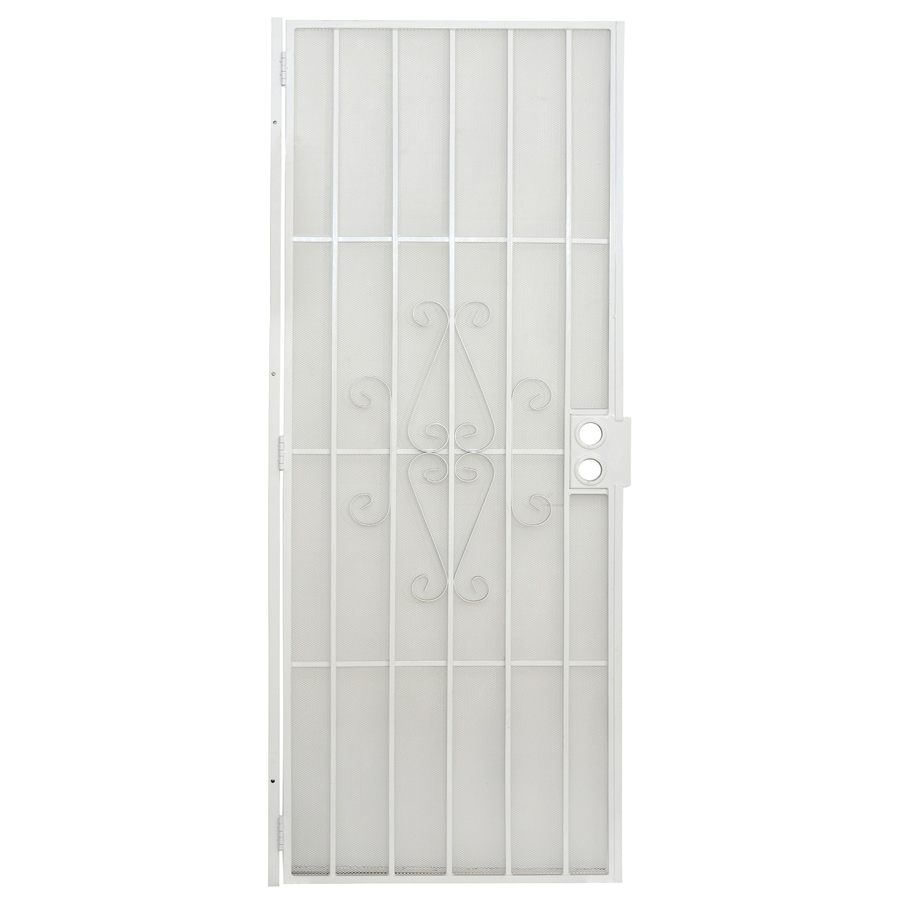 Gatehouse Magnum White Steel Security Door (Common: 30-in x 80-in; Actual: 32.5-in x 81-in)