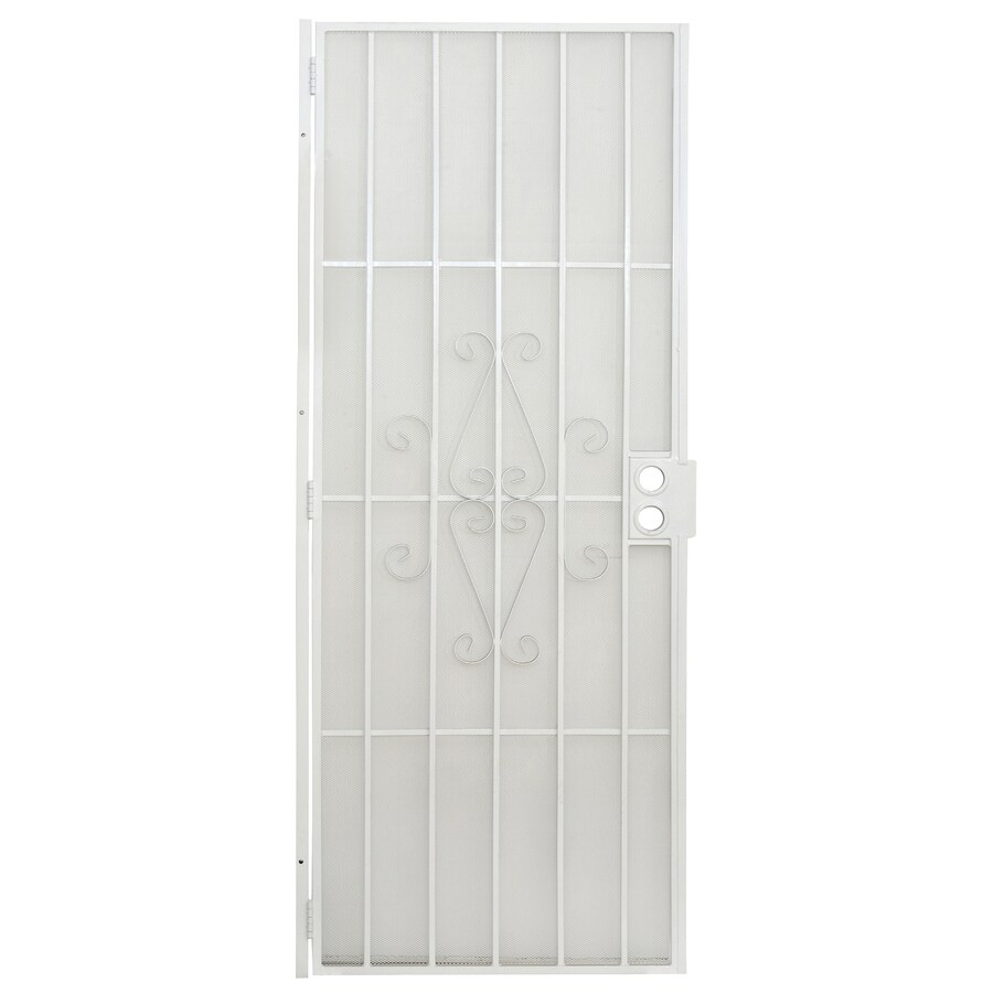 Gatehouse Magnum White Steel Security Door (Common: 30-in x 80-in; Actual: 32.5-in x 81-in)