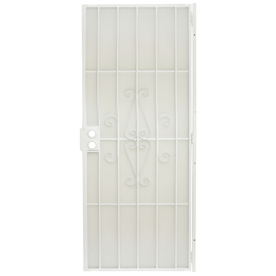 Gatehouse Magnum White Steel Surface Mount Single Security Door (Common: 32-in x 80-in; Actual: 34.5-in x 81-in)