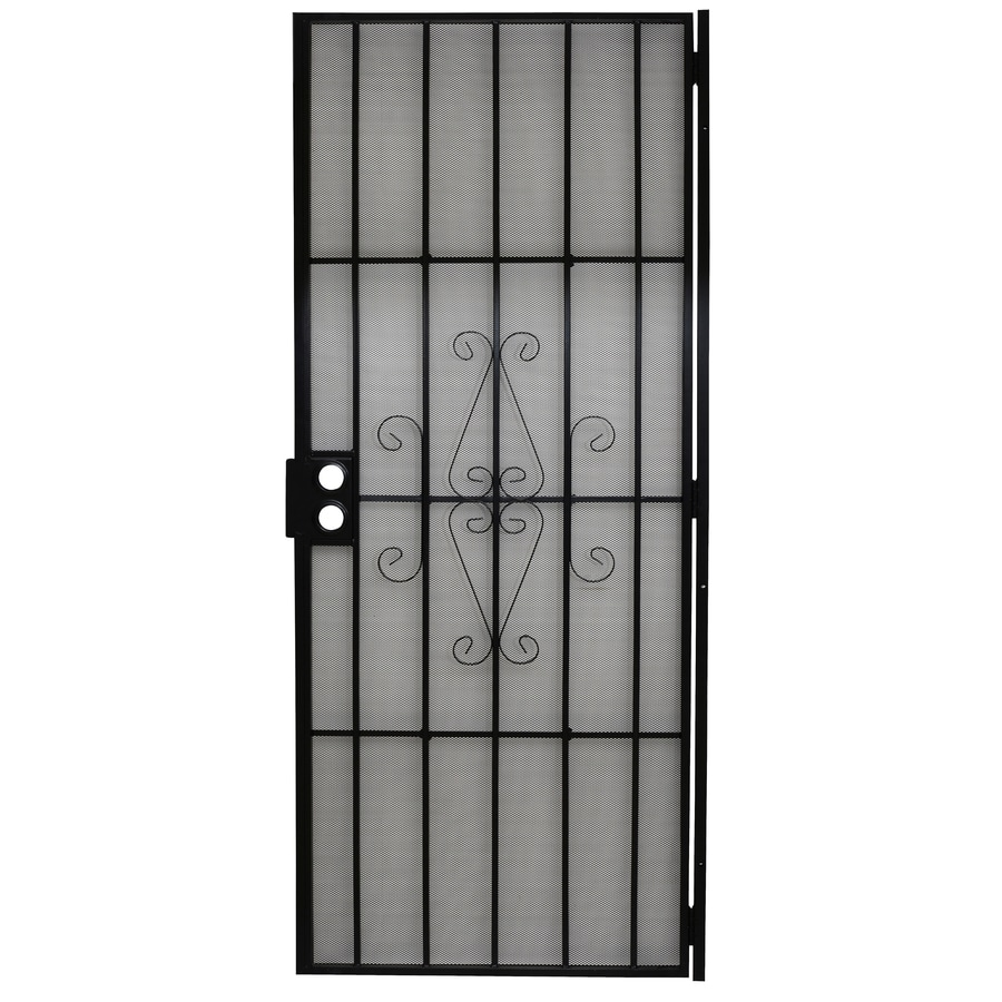 Gatehouse Magnum Black Steel Security Door (Common: 32-in x 80-in; Actual: 34.5-in x 81-in)