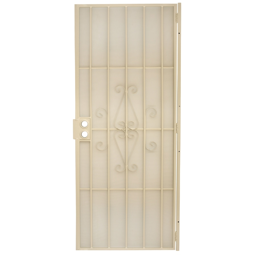 Gatehouse Magnum Almond Steel Security Door (Common: 32-in x 80-in; Actual: 34.5-in x 81-in)