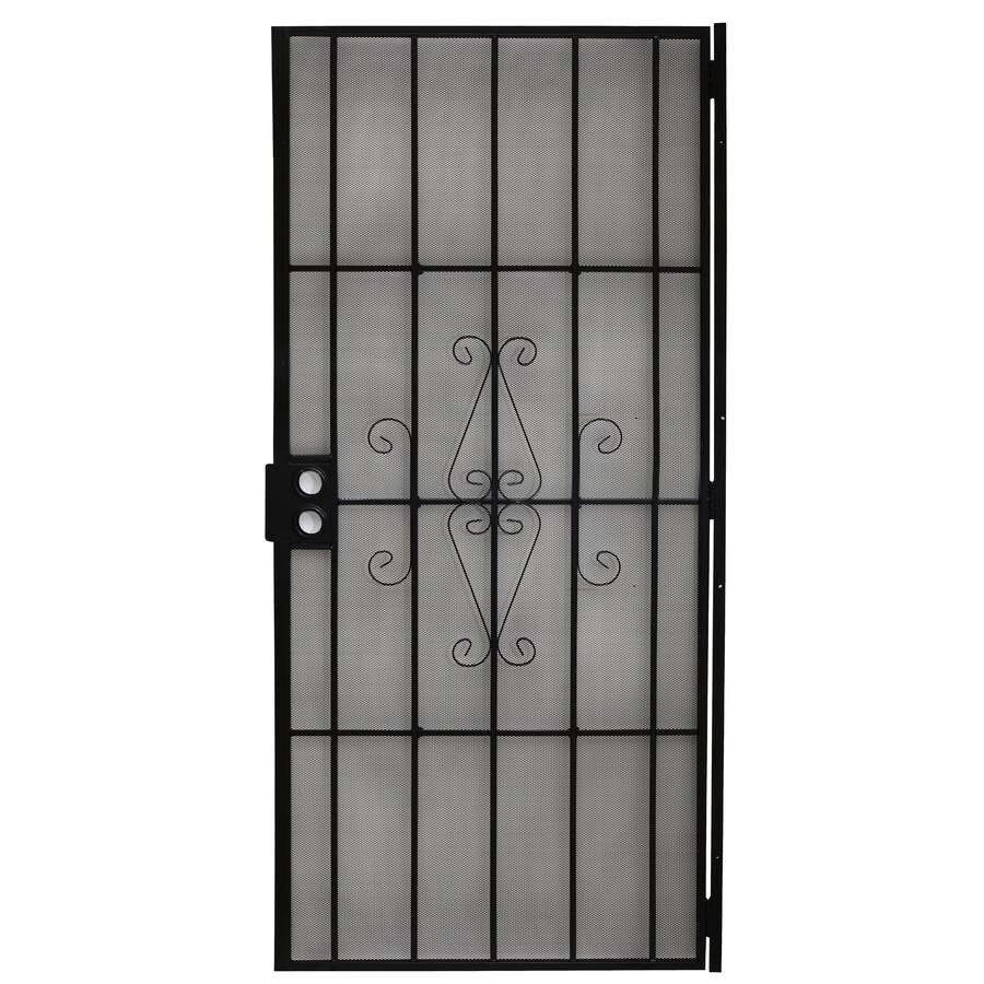 Gatehouse Magnum Black Steel Security Door (Common: 36-in x 80-in; Actual: 38.5-in x 81-in)