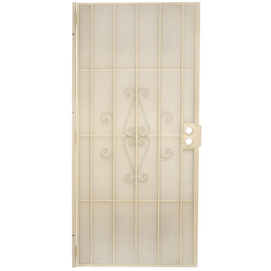 Gatehouse Magnum Almond Steel Security Door (Common: 36-in x 80-in; Actual: 38.5-in x 81-in)