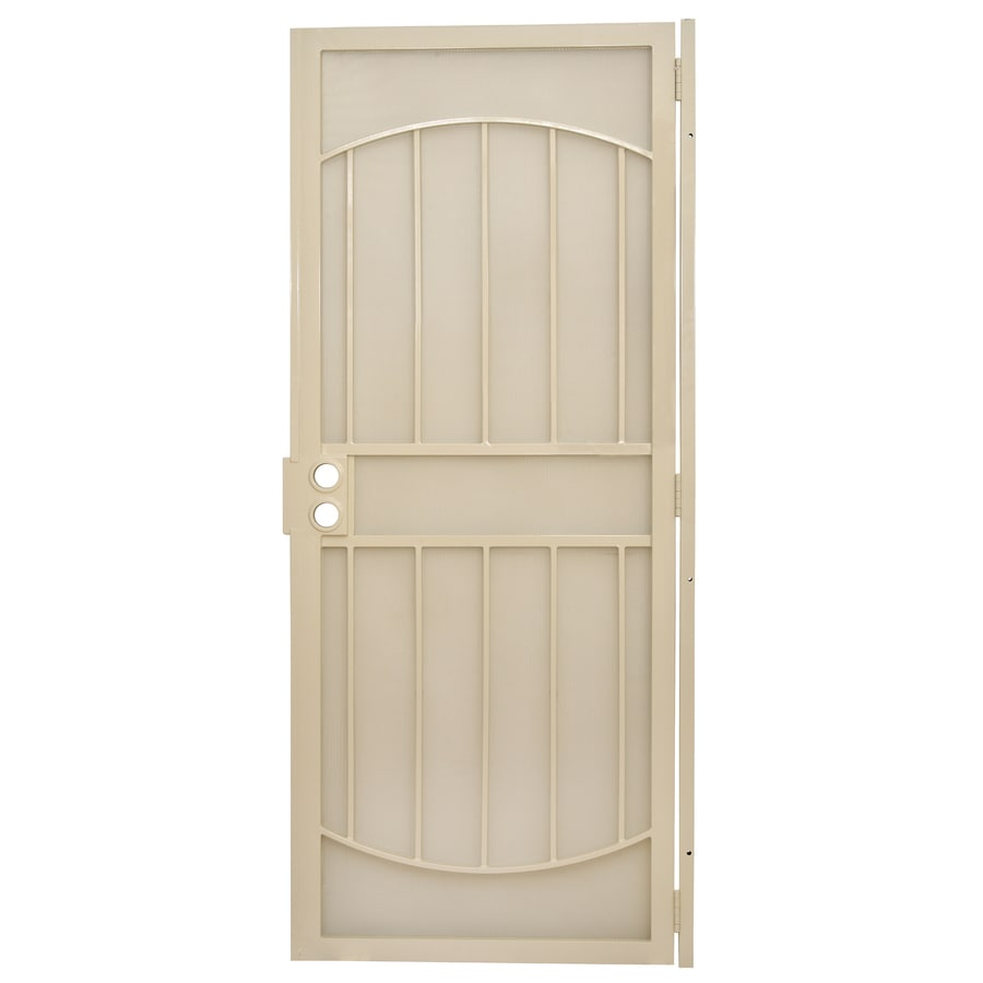 Gatehouse Gibraltar Almond Steel Security Door (Common: 32-in x 80-in; Actual: 35-in x 81-in)