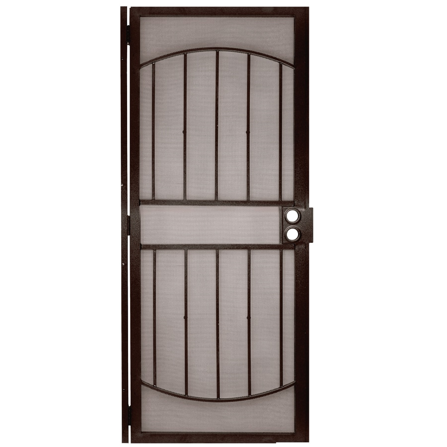 Gatehouse Gibraltar Bronze Steel Security Door (Common: 32-in x 80-in; Actual: 35-in x 81-in)