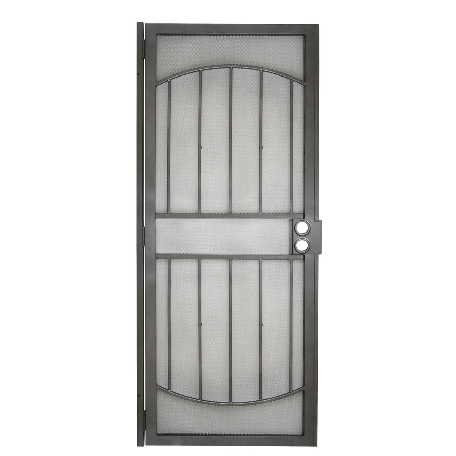 Gatehouse Gibraltar Silver Steel Security Door (Common: 32-in x 80-in; Actual: 35-in x 81-in)