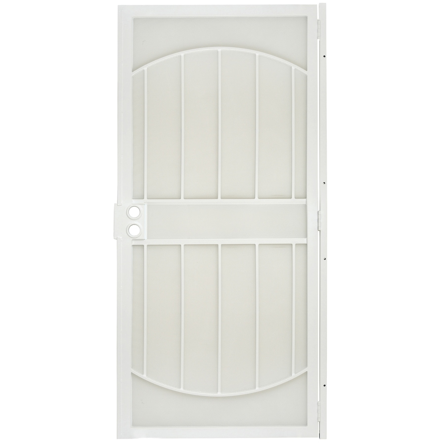 Gatehouse Gibraltar White Steel Security Door (Common: 36-in x 80-in; Actual: 39-in x 81-in)