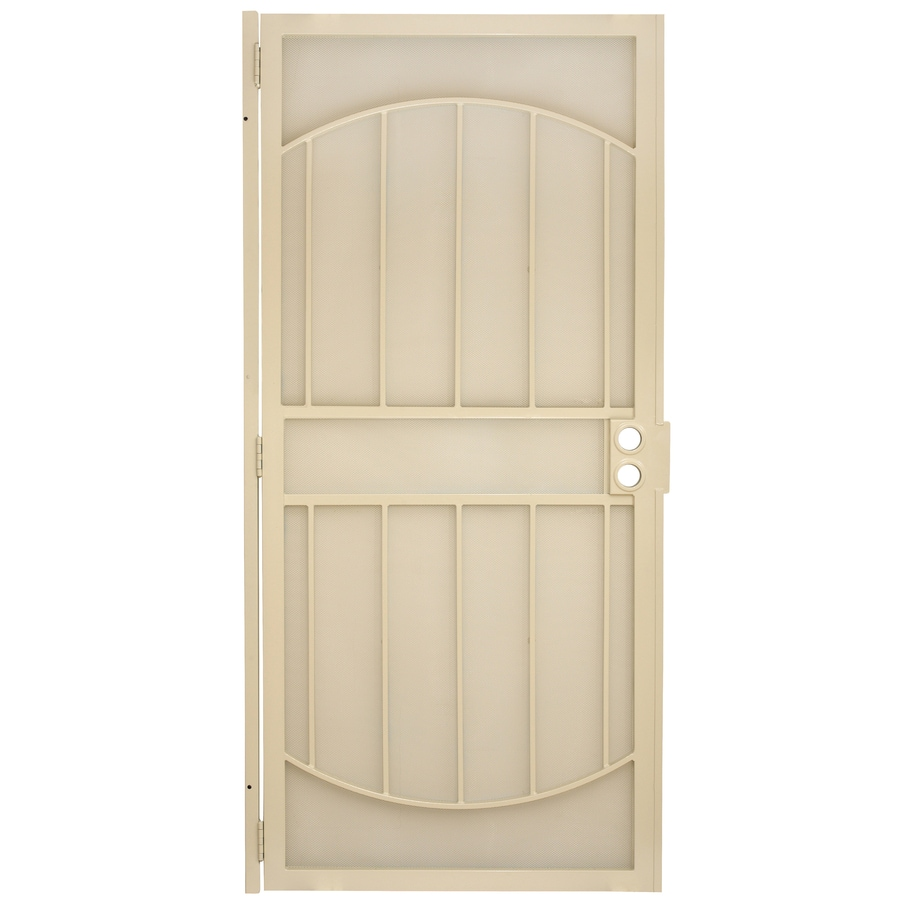 Gatehouse Gibraltar Almond Steel Security Door (Common: 36-in x 80-in; Actual: 39-in x 81-in)