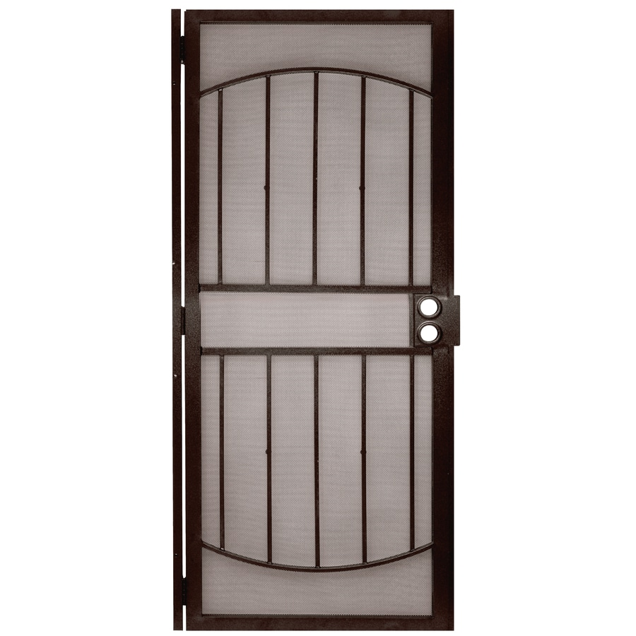 Gatehouse Gibraltar Bronze Steel Security Door (Common: 36-in x 80-in; Actual: 39-in x 81-in)