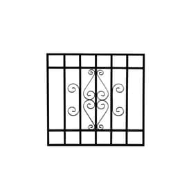 window security bars lowes hinged gatehouse 24in black magnum window security bar bars at lowescom