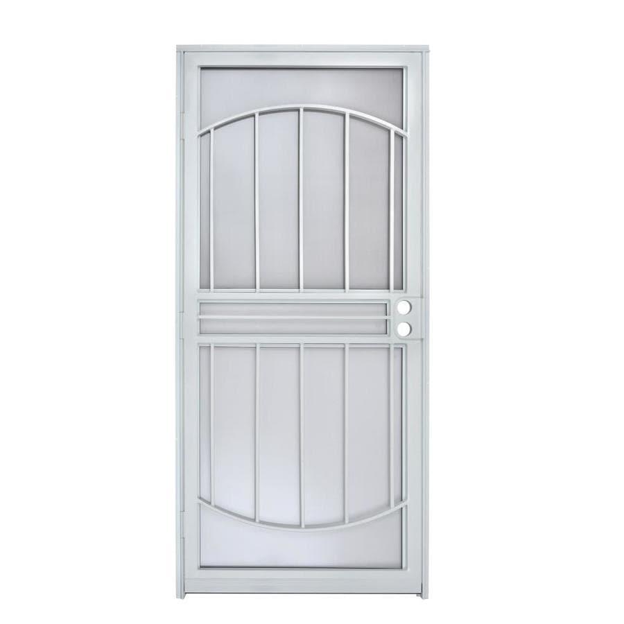 Gatehouse Geneva White Steel Recessed Mount Single Door Security Door (Common 36-in  sc 1 st  Lowe\u0027s & Shop Gatehouse Geneva White Steel Recessed Mount Single Door ...